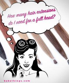 How many extensions you need for a full head of extensions. Great guide!