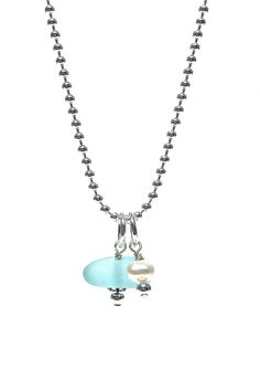 Sea Glass Jewelry | Handmade Pearl Pendant Necklace | Fisher's Finery – Fishers Finery