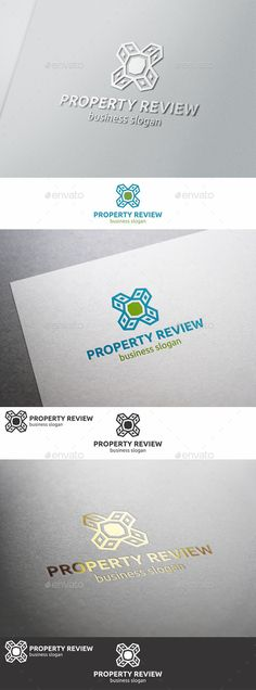 Property Review Logo ¨C Professional and unique logo suitable for construction, real estate, realty, mortgage, property business, b