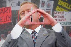 Flashing the Oregon O on #espn #nationalbrand