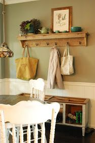 Between Blue and Yellow: Barn Wood Shelf