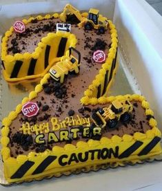 Birthday Cake Ideas For Boys Construction Party Ideas – Kuchen Rezept 2 Year Old Birthday Party, 2nd Birthday Boys, 2nd Birthday Party Themes, Boy Birthday Parties, 1st Birthday Party Ideas For Boys, Happy Birthday, Truck Birthday Cakes, Digger Birthday Cake, Digger Cake