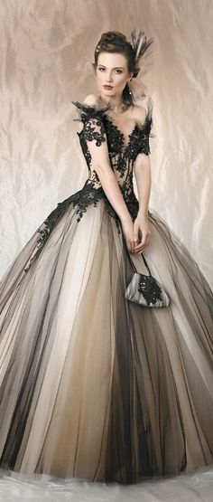 Tulle Gown. Without whatever that is sticking off the top of the arms.