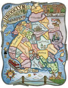 """Brooklyn New York map    Brooklyn:  Multicultural, tiene fabulosas vistas a Manhattan, barrios muy bien conservados, una historia llena de riqueza y una peculiar vida """"de barrio de New york    El St. Francis College, donde hacemos las clases y algunas actividades, tiene más de 150 años de historia y se encuentra en pleno centro de Brooklyn Height.    #WeLoveBS #inglés #idiomas #EstadosUnidos #EstatsUnits #USA #NewYork #NuevaYork #Brooklyn"""