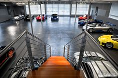"""Polished concrete floors reminds me of Tony Stark's home in """"Iron Man."""" Sick!"""