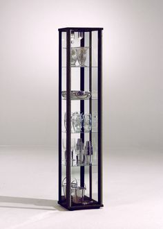 Living Dining Room Space 1 Door Glass Display Cabinet With Internal Light