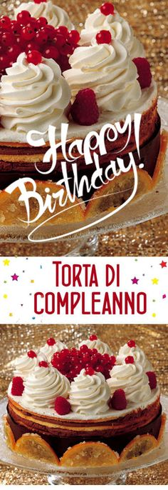 Torta di compleanno Love Is Sweet, Gelato, Biscotti, Italian Recipes, Sweet Recipes, Cheesecake, Food And Drink, Cooking Recipes, Candy
