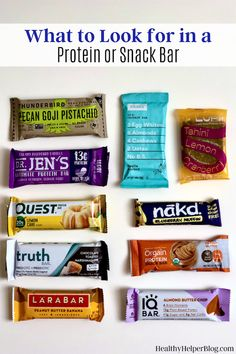What to Look for in a Protein (or Snack!) Bar | Looking to boost your protein intake or stay on track with your nutrition goals by choosing a healthy snack? Protein and snack bars can be a great option, but only if they meet certain criteria. Here's what to look for in your bars. #healthysnacks #healthysnack #healthybar #snackbar #proteinbar #healthysnackideas #highprotein #snacks #healthydiet #healthytips #healthyliving Arbonne Nutrition, Holistic Nutrition, Proper Nutrition, Nutrition Guide, Health And Nutrition, Health Tips, Clean Protein Bars, Healthy Snack Bars, Protein Snacks
