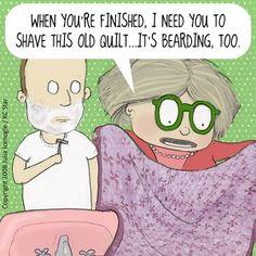 Mrs. Bobbin's quilt is....Bearding