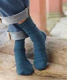 Носки спицами из Regia. Описание - Носки,тапочки