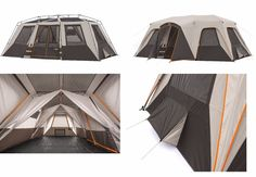 Large Camping Tent 12 Person 18' x 11' Family Instant Cabin Canopy River Fishing #Bushinell #FrameTent