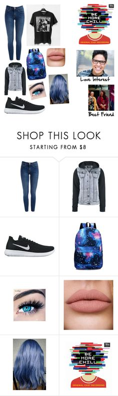 """""""Me In Be More Chill"""" by fangirlgaming36 ❤ liked on Polyvore featuring NIKE and MINX"""
