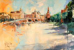 Artist : Voka . Title : Moskau Media : Original - Acrylic on Canvas Size : 80 x 118cm Price : www.artcatto.com