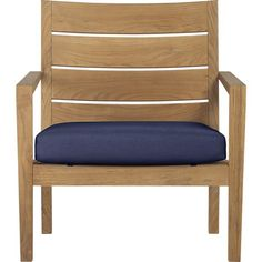 Regatta Lounge Chair with Sunbrella Indigo cushion ($749)