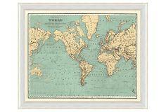 One Kings Lane - Map Happy - World Map