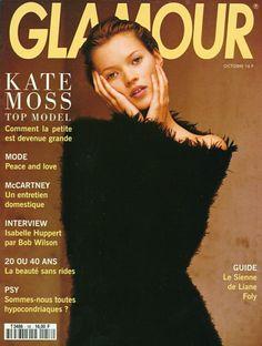 "larastonestits: ""Kate Moss by Mario Testino for Glamour France, October 1993 "" Kate Moss, Isabelle Huppert, Fashion Magazine Cover, Fashion Cover, Magazine Covers, Glamour France, Haha, Moss Fashion, Queen Kate"