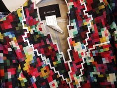 8-bit fashion by Anrealage, a Japanese fashion label. I would absolutely wear this. #fall2011 #tokyo #pixels #prints #colours #squares #geometric #geeky