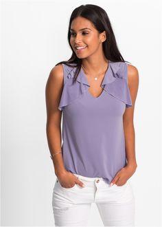 Commandez maintenant Top blouse à volants : MUST HAVE violet à partir de 14,99 ? sur bonprix.fr. Top-blouse tendance de la marque Bodyflirt avec volants ...