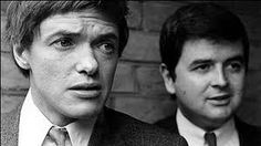 The Likely Lads. Image shows from L to R: Terry Collier (James Bolam), Bob Ferris (Rodney Bewes). British Sitcoms, British Comedy, Comedy Actors, Google Plus, Vintage Television, Old Tv Shows, Great Tv Shows, Television Program, Vintage Tv