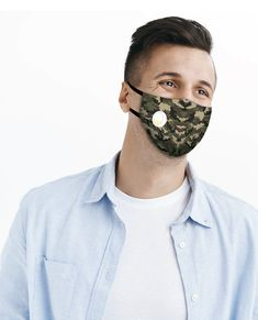 Camo Comfort Plus Mask by Zorbitz:  100% Cotton | EZ Breathe Vent Valve  Use with or without Filter | For General Non-Medical Purposes | Reusable, Washable Face Coverings Great Gifts For Guys, Gifts For Boys, Breathe, Filter, Camo, Medical, Cotton, Kids, Boy Gifts