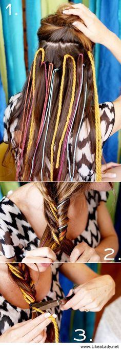 Cute and simple hairstyle
