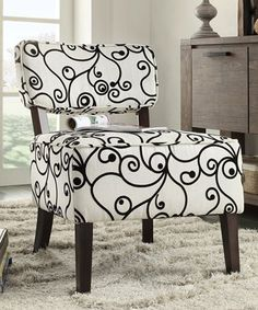 Look at this Trevino Armless Accent Chair on #zulily today!