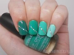 Sequin teal gradient