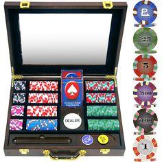 240 Chip NexGenT PRO Classic Style Poker Set - Wood Case