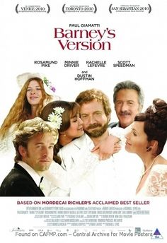 New Movie Poster Barney's Version See the full and large #MoviePoster on #CAFMP - The Central Archive for Movie Posters