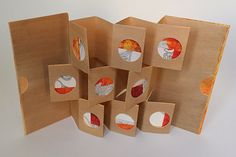 """Step by step instructions for a version of a gallery book, presnted in Alisa Golden's blog """"Making Handmade Books"""" here: http://makinghandmadebooks.blogspot.com/"""
