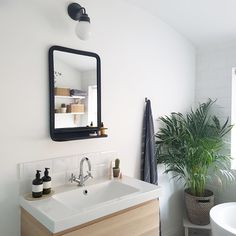The mirror was from Rose and Grey and the sink unit from Ikea