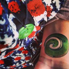 New Zealand jade Koru tattoo. Meaning peace, strength, and new beginnings.