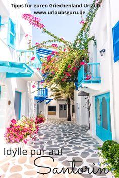 So schön sieht es auf Santorin aus! Holt euch in meinem Reisemagazin Tipps und Anregungen für euren Urlaub im wunderschönen Griechenland.