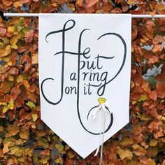 DIY Ring Bearer Banner on Etsy Weddings. I don't know if you are going to have one of your Nephews be a ring bearer or not, if so I think this would be a fun possible idea to add a little something to the ceremony or reception. Wedding Blog, Diy Wedding, Wedding Ideas, Autumn Wedding, Wedding Details, Ring Bearer Signs, Ring Security, Bear Wedding, Ring Bearer Outfit