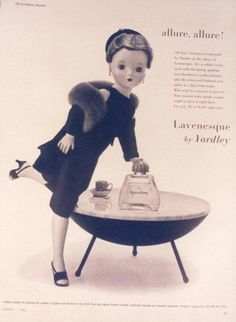 Cissy doll and Yardley of London  Old Yardley ad with Madame Alexander doll