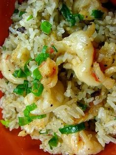 Garlic shrimp with rice