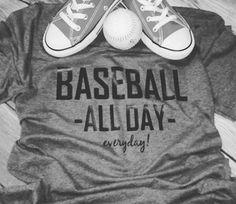 Err Day baseball all day baseball mom by LondonLabelDesign on Etsy Baseball Bases, Baseball Scores, Baseball Tips, Baseball Crafts, Baseball Season, Travel Baseball, Baseball Field, Sports Mom Shirts, Baseball Mom Shirts