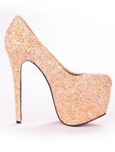 Zapatos con lentejuelas de tacón alto - Milanoo.com Fancy Shoes, Unique Shoes, Pretty Shoes, Cute Shoes, Wedding Shoes Heels, Shoes Heels Boots, Homecoming Shoes, Indian Shoes, Cinderella Shoes