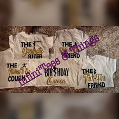 Birthday Girl Shirts Squad Shirt Friend Party Womens Crew Queen