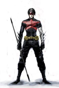 Nightwing + Winter Soldier by naratani.deviantart.com