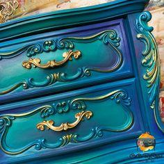 Funky Painted Furniture, Dresser Furniture, Refurbished Furniture, Colorful Furniture, Art Furniture, Repurposed Furniture, Unique Furniture, Furniture Makeover, Furniture Refinishing