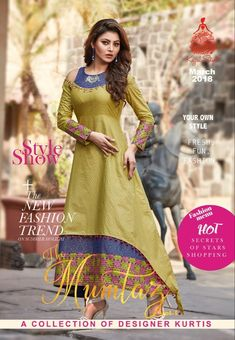 Kajal style mumtaz vol 1 long Gown type Kurties catalog Modest Fashion, Fashion Outfits, Churidar Designs, Clothes Crafts, Indian Ethnic Wear, Indian Designer Wear, Indian Outfits, Blouse Designs, Party Wear