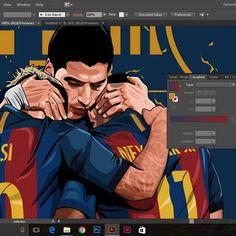 End of era? . . Thoughts? . . #art #illustration #vectorart #vexel #vector_id #lionel #leo #messi #neymar #neymarjr #luis #suarez #MSN #trio #barcelona #barca #lamessiah #lapulga #pistolero #argentina #brazil #uruguay #wip #graphic #design #adobe #wiskie