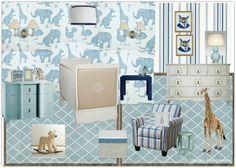 Baby Boy Nursery, Royal Baby nursery, nursery inspiration, baby bedroom