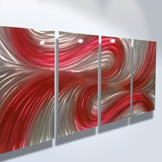 Abstract Metal Wall Art Sculpture / Red Orange Phoenix Twist by ...