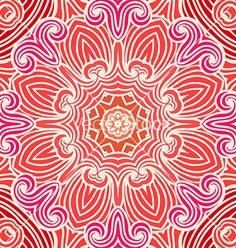 Hand drawn ornamental background vector - by Vodoleyka on VectorStock®