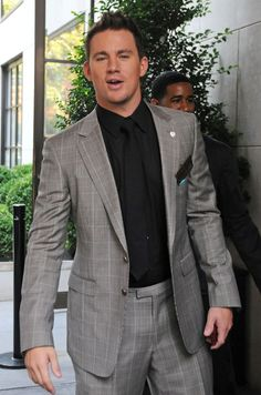 Channing Tatum Photos Photos: 'G. Joe' promotes in New York City Chaning Tatum, Step Up Revolution, Mens Fashion Wear, Handsome Faces, Zac Efron, Amanda Seyfried, Good Looking Men, Prince Charming, Movie Stars