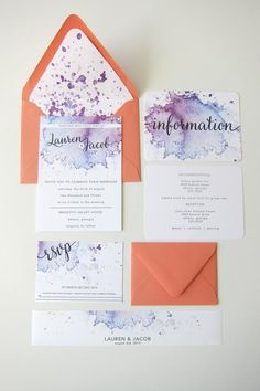 Wedding Invitation Suite - Invitations - Full Suite - Watercolor Invitations