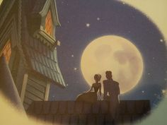 Sneak peak from Frozen Disney Classics book part 3. Anna and handsome dude by the moonlight. n_n; I don't know all their names yet cause I haven't seen it! ;P