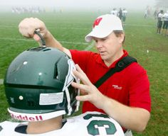 John McKinley, the athletic trainer at Madison Memorial and manager of outreach athletic training services at UW Health, says there are mean...